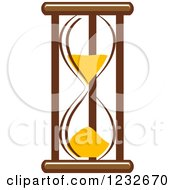 Clipart Of A Brown And Yellow Hourglass 5 Royalty Free Vector Illustration
