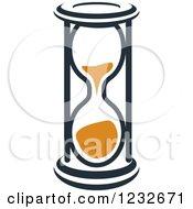 Orange And Black Hourglass 16