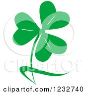 Clipart Of A Green Clover Logo Royalty Free Vector Illustration by Vector Tradition SM