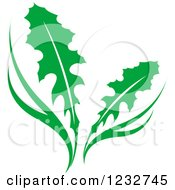 Clipart Of A Green Dandelion Plant Logo Royalty Free Vector Illustration by Vector Tradition SM