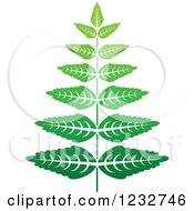 Clipart Of A Green Fern Plant Logo Royalty Free Vector Illustration