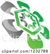 Clipart Of A Green And Gray Windmill Logo 8 Royalty Free Vector Illustration by Vector Tradition SM