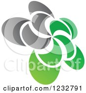 Clipart Of A Green And Gray Windmill Logo 7 Royalty Free Vector Illustration by Vector Tradition SM