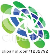 Clipart Of A Green And Blue Windmill Logo 4 Royalty Free Vector Illustration by Vector Tradition SM