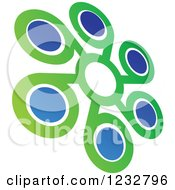 Clipart Of A Green And Blue Windmill Logo 5 Royalty Free Vector Illustration by Vector Tradition SM