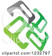 Clipart Of A Green And Gray Windmill Logo 10 Royalty Free Vector Illustration by Vector Tradition SM