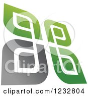 Clipart Of A Green And Gray Windmill Logo 13 Royalty Free Vector Illustration by Vector Tradition SM