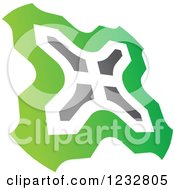 Clipart Of A Green And Gray Windmill Logo 4 Royalty Free Vector Illustration by Vector Tradition SM