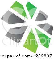 Clipart Of A Green And Gray Windmill Logo 5 Royalty Free Vector Illustration by Vector Tradition SM