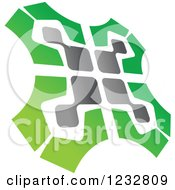Clipart Of A Green And Gray Windmill Logo 2 Royalty Free Vector Illustration by Vector Tradition SM