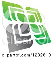 Clipart Of A Green And Gray Windmill Logo 3 Royalty Free Vector Illustration by Vector Tradition SM