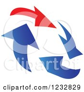 Clipart Of A Blue And Red Arrow Logo 3 Royalty Free Vector Illustration