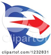 Clipart Of A Blue And Red Arrow Logo 5 Royalty Free Vector Illustration