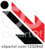 Clipart Of A Red And Black Arrow Logo 2 Royalty Free Vector Illustration