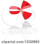 Clipart Of A Red And Black Fish Logo And Reflection 7 Royalty Free Vector Illustration by Vector Tradition SM