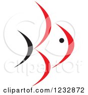 Clipart Of A Red And Black Fish Logo 10 Royalty Free Vector Illustration by Vector Tradition SM