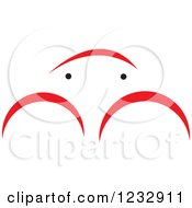 Clipart Of A Red And Black Crab Logo Royalty Free Vector Illustration by Vector Tradition SM