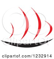 Clipart Of A Red And Black Hot Plate Logo Royalty Free Vector Illustration