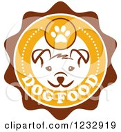 Clipart Of A Puppy Face On A Dog Food Label Royalty Free Vector Illustration