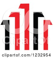Red And Black Bar Graph Logo 3