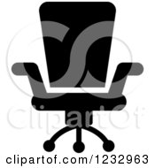 Clipart Of A Black And White Chair Business Icon Royalty Free Vector Illustration