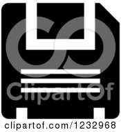 Clipart Of A Black And White Floppy Drive Business Icon Royalty Free Vector Illustration