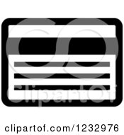 Clipart Of A Black And White Credit Card Business Icon Royalty Free Vector Illustration