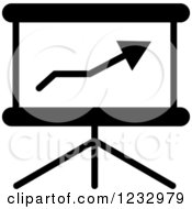 Clipart Of A Black And White Chart Business Icon Royalty Free Vector Illustration