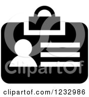 Clipart Of A Black And White Employee Badge Business Icon Royalty Free Vector Illustration