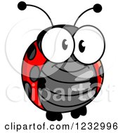 Clipart Of A Cute Happy Ladybug Royalty Free Vector Illustration by Vector Tradition SM