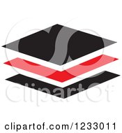 Clipart Of A Red And Black Tiles Logo Royalty Free Vector Illustration
