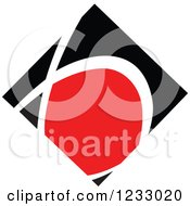 Clipart Of A Red And Black Diamond Logo 3 Royalty Free Vector Illustration by Vector Tradition SM
