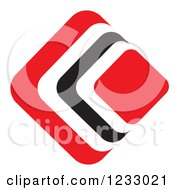 Clipart Of A Red And Black Diamond Logo 5 Royalty Free Vector Illustration by Vector Tradition SM
