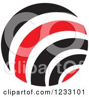 Clipart Of A Red And Black Sphere Logo 2 Royalty Free Vector Illustration