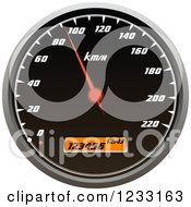 Clipart Of A Car Speedometer Royalty Free Vector Illustration by Vector Tradition SM