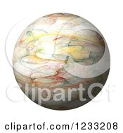 Clipart Of A 3d Fractal Globe On White Royalty Free Illustration