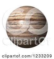 Clipart Of A 3d Wooden Globe On White Royalty Free Illustration