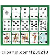 Clipart Of A Layout Of Spades Playing Cards Royalty Free Vector Illustration