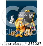 Clipart Of A Fish Teacher And Students Royalty Free Illustration by dero