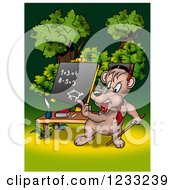 Clipart Of A Bear Teacher Royalty Free Illustration by dero