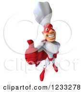 Clipart Of A 3d Male Super Chef Giving A Thumb Up Royalty Free Illustration