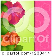 Hibiscus Flower Panel Over Pink
