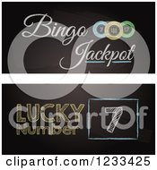 Clipart Of Bingo Blackboard Website Banners Royalty Free Vector Illustration