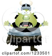 Clipart Of A Scared Screaming Male Orc Royalty Free Vector Illustration by Cory Thoman
