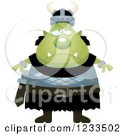 Clipart Of A Depressed Male Orc Royalty Free Vector Illustration by Cory Thoman