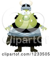 Clipart Of A Happy Male Orc Royalty Free Vector Illustration by Cory Thoman