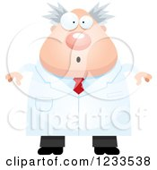 Clipart Of A Surprised Gasping Male Scientist Royalty Free Vector Illustration
