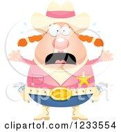 Scared Screaming Sheriff Cowgirl