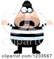 Clipart Of A Scared Screaming Robber Burglar Guy Royalty Free Vector Illustration by Cory Thoman