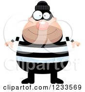 Clipart Of A Happy Robber Burglar Guy Royalty Free Vector Illustration by Cory Thoman